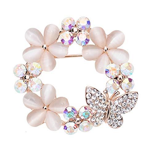 Maikun Christmas Brooch Pin Clear Rhinestone Opal Flower Accessaries Tree Socks Valentine's Gifts