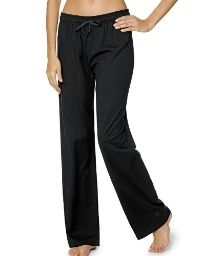 Champion Women's Jersey Pant, Black, Medium