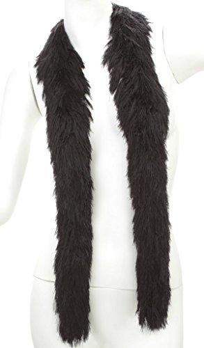 Faux Fur Featherless Boa (Regular, Black)]()