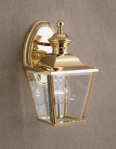 Kichler Polished Brass Wall (Kichler 9711PB One Light Outdoor Wall Mount)