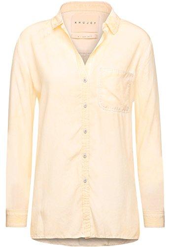 Donna Khujo bl2 Peac Camicia Maniche b Basic Gelb Lunghe PRwPrIHq