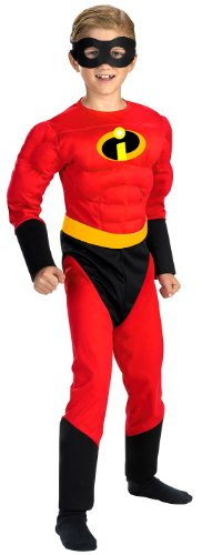 [Disguise Disney The Incredibles Dash Classic Muscle Boys Costume, One Color, Small/4-6] (Dash Incredibles Costumes)