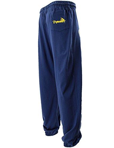 Pantalones deportes algodón Rio Djaneo para hombres y mujeres en 35 colores azul marino y amarillo