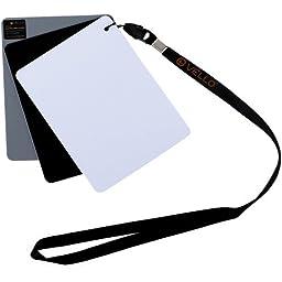 Vello White Balance Card Set for Digital Photography (Medium, 5.1 x 3.9\