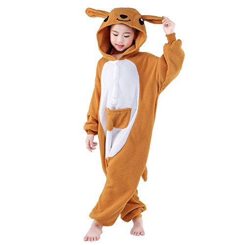 NEWCOSPLAY Unisex Children Kangaroo Pyjamas Halloween Costume (6-Height 50-52