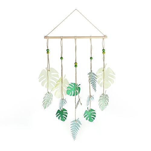 Roser Life Wall Hanging Mobile Handmade Tapestry Green Tropical Leaves Decor (Pack of 1) from Roser Life