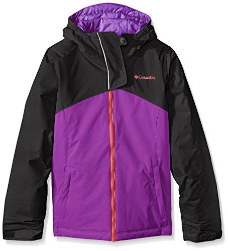 Columbia Sportswear Girls Crash Course Jacket, Black-Bright Plum, XX-Small (Crash Pants Ski)