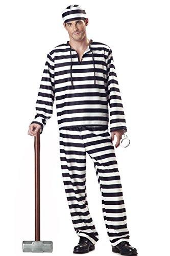 Nuevos hombres negro y blanco, disfraz de Preso Convicto ...