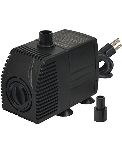 Copper Leaf Waterfalls (Simple Deluxe 160 GPH UL Listed Submersible Pump with 6' Cord, Water Pump for Fish Tank, Hydroponics, Aquaponics, Fountains, Ponds, Statuary, Aquariums & Inline)