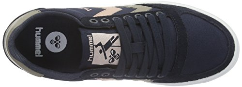 Hummel Slimmer Stadil Duo Canvas Low, Zapatillas Unisex Adulto Azul (India Pink)