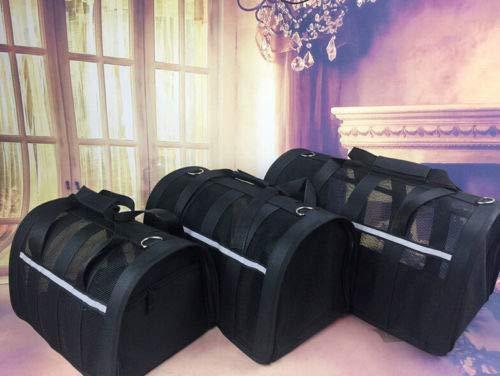 FidgetFidget Portable Breathable Cage House Pets Cat Dog Rabbit Puppy Carrier Travel Bag Cage Black L