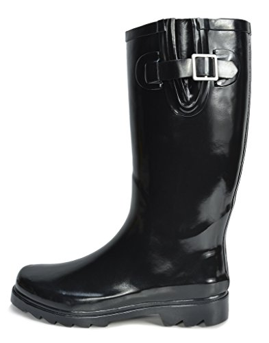 Black Women's Knee High arctiv8 Rainboots Snow Rubber Winter n0dwgx