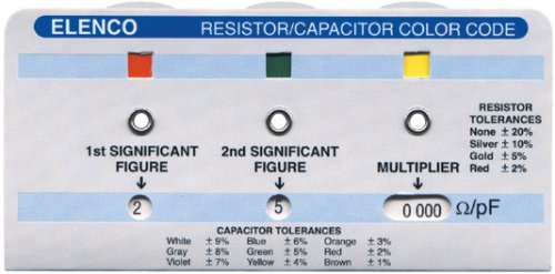 resistor color code calculator capasitor elenco cc
