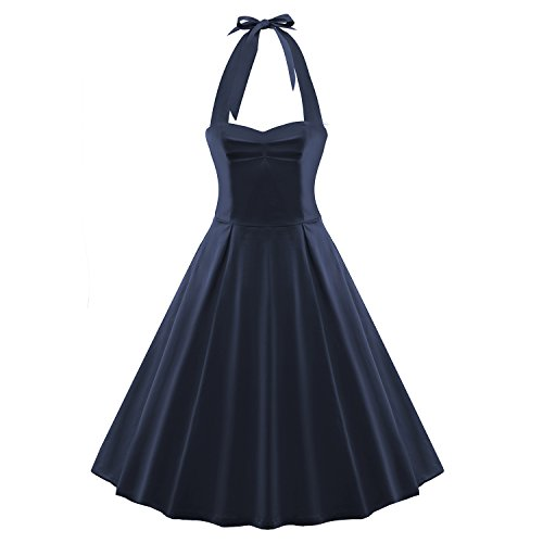 LUOUSE-Womens-Vintage-Halter-Retro-Bridesmaid-Party-Cocktail-Tea-Pinup-Dress