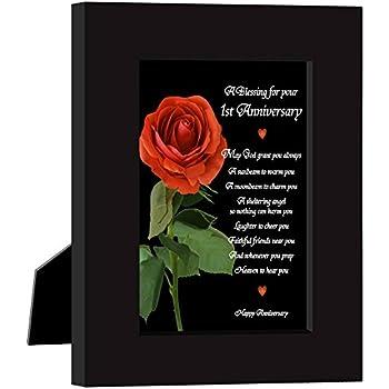 Amazon paper 1st wedding anniversary gift for couple first paper 1st wedding anniversary gift for couple first anniversaries poem card in frame m4hsunfo