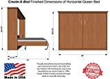 Queen Size Deluxe Murphy Bed Kit, Horizontal