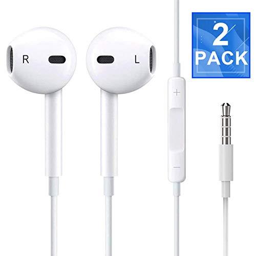 Splenor Headphones/Earphones/Earbuds, 3.5mm Wired Headphones Noise Isolating Earphones with Built-in Microphone & Volume Control Compatible with most Smartphones