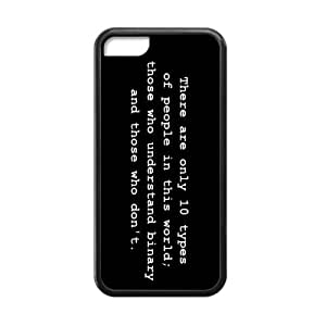 Funny Binary Code - There are 10 kinds of people in the World Pattern iPhone 5C Case Covers Anti-Scratch Extreme Protection Compatible with iPhone 5C TPU(Laser Technology)