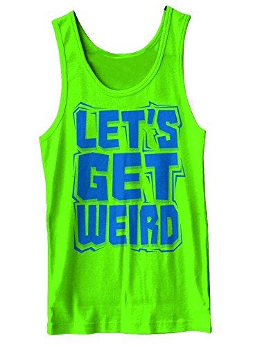 Let's Get Weird Neon Green Tank Top