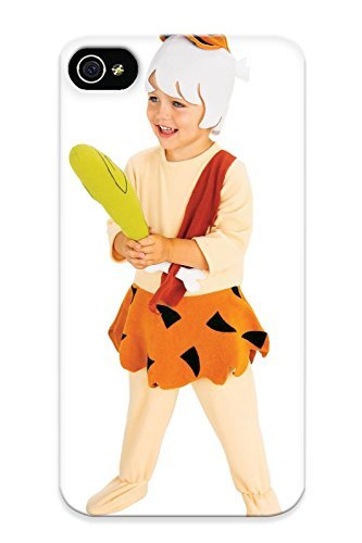 [Crooningrose Ultra Slim Fit Hard Case Cover Specially Made For Iphone 4/4s- Home Halloween Costume Idea Flintstone Costume Bam Bam] (Costumes Ideas For 4)
