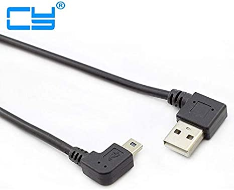 Cable Length: 0.2m, Color: Black Connectors Male Right Angled USB2.0 Turn to Left Mini USB 90 Degree Left Angled Mini USB Turn to USB Connector Short Cable 25cm