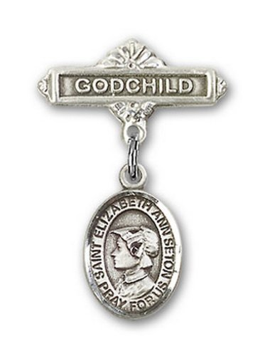 Icecarats Créatrice De Bijoux En Argent Sterling St. Elizabeth Ann Seton Charme Broches Badge Filleul 1 X 5/8