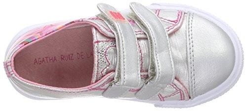 Agatha Ruiz de la Prada 162904-A - Zapatillas para niñas Plata (Lona)