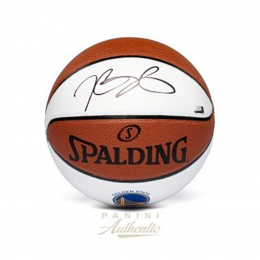 KEVIN DURANT Autographed Golden State Warriors White Panel Basketball PANINI