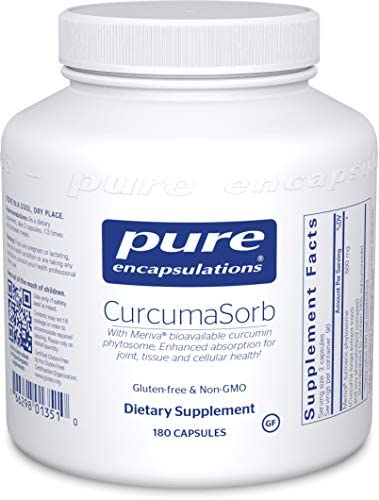 Pure Encapsulations – CurcumaSorb – with Meriva Bioavailable Curcumin Phytosome – 180 Capsules