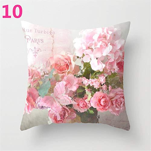 Star Supermarket Funda de cojín con diseño de Flor de Rosa para sofá, decoración del hogar, para el día de la Madre, poliéster, 10, 45×45cm