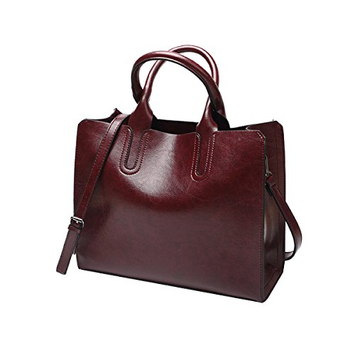 Delle Signora In Bag Di Maniglia Donne Borsa Vintage Brown2 Borse Spalla Pelle Pu Tote Multicolore 0wvvdKPq