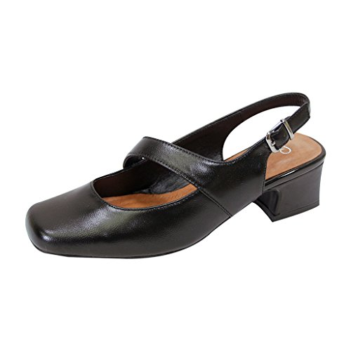 Leather Mary Jane Slingback Heel - 4