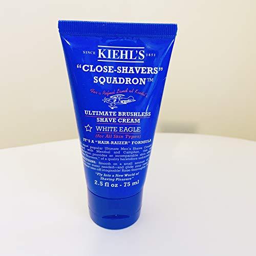 (KiehI's Close Shavers Squadron Ultimate Brushless Shave Cream White Eagle Travel Size )