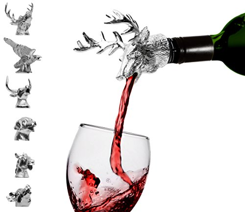 Chrome-Animal-Wine-Aerator-Classic-Pourer-with-silicone-rubber-fitting