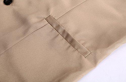 Dietro Anyu Cachi Con regolabile Top Casual Gilet Da Uomo Progettato Vestito Ypw4YqA