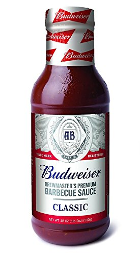 (Budweiser BBQ Sauce, Classic, 18 Ounce Bottle (Pack of 6, Packaging May Vary))