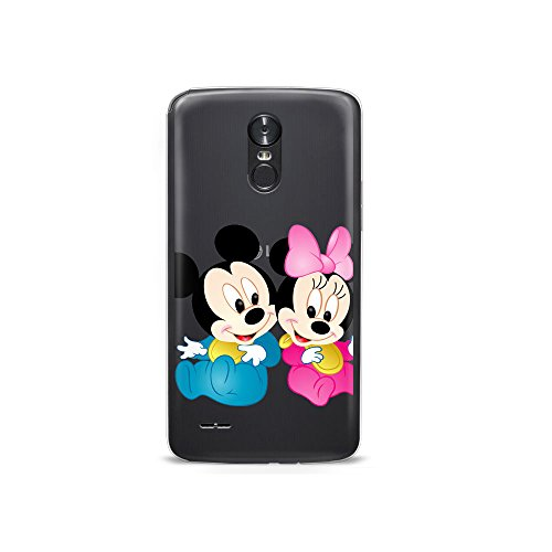 (GSPSTORE LG Stylo 2 Case Disney Cartoon Mickey Minnie Mouse Soft Transparent TPU Protector Cover for LG Stylo 2/Stylus 2/Stylo 2V/G Stylo 2/LS775 #04)