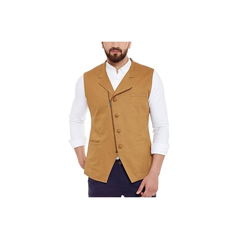41vIwrIJaiL. SS768  - HYPERNATION Men's Nehru Jacket Waistcoat