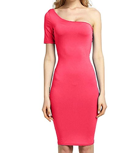 One Coolred Women Basic Evening Match Sleeve Pattern2 All Plus One Solid Size Dress Party Shoulder wS7xq8rdw