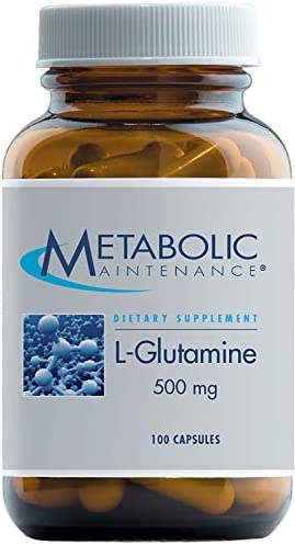 Metabolic Maintenance L-Glutamine – 500 Milligrams Pure Amino Acid Support for Gut Health 100 Capsules