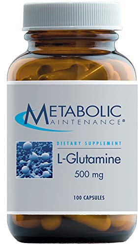 Metabolic Maintenance L-Glutamine - 500 mg Pure Amino Acid Support for Gut Health (100 Capsules)