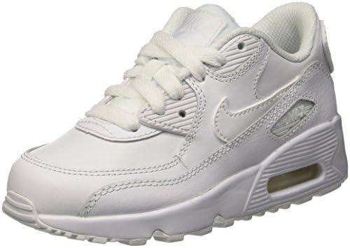 Nike Australia Boys Air Max 90 LTR (PS) Fashion Shoes, White