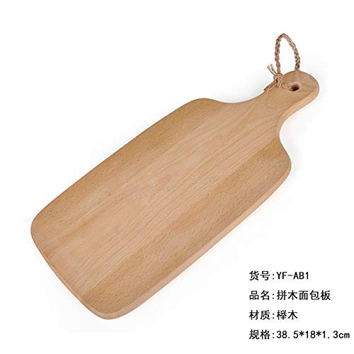 SNQKMLEP Row of Light Logs Top 100 Light Logs, Solid Wood Tableware, Kitchens, Classical Baitao Wood, 25 18 cm Rectangular Plate (Color : Breadboard Parquet, Size : -)