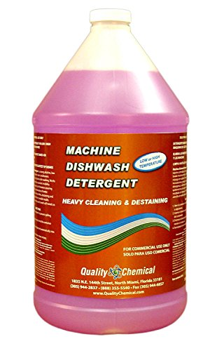Quality Chemical Commercial Industrial Grade Machine Dishwash Detergent - A Premium Grade Detergent for Low or high Temp dishwash Machines-1 Gallon (128 oz.)