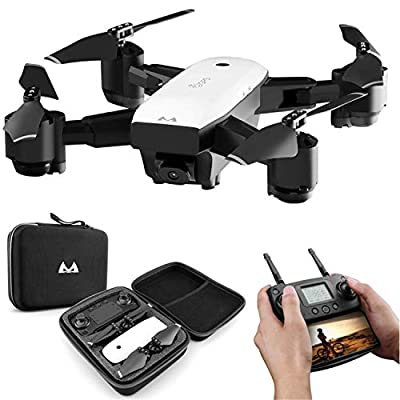 HIp Mall Satellite Positioning GPS Drone 5G WiFi FPV Foldable Quadcopter with 1080P HD Wide Angle Camera, Smart Follow Flying Around 3D VR Mode Auto Return RC Drone from Hip Mall