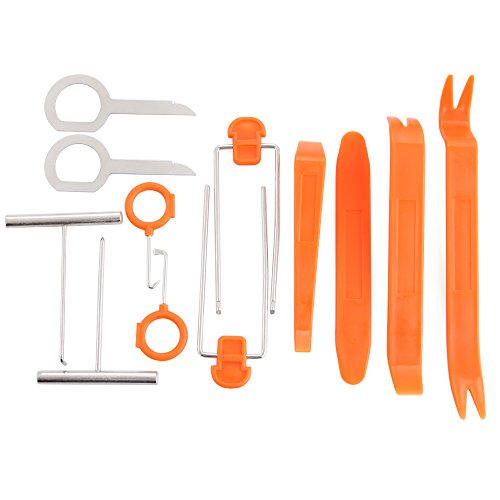 VCiiC Auto Door Clip Panel Trim Removal Tool Kits For BMW E46 E52 E53 E60 E90 E91 E92 E93 F01 F30 F20 F10 F15 F13 M3 M5 M6 X1 X3 X5 X6[12PCS]