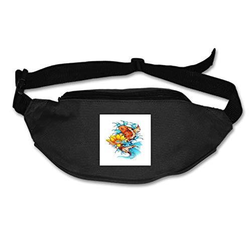 MXYG Womens Sports Hiking Running Belt Koi Fish Print Waist Bag Pouch Zipper Printed Fanny Pack
