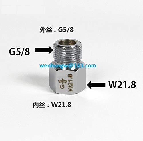 W21.8 to G5 8 M22 Adapter Aquarium CO2 Live Plant Fish Tank Fitting conventer cylinder Regulator connector Joint Accessories Kit   silver, silver