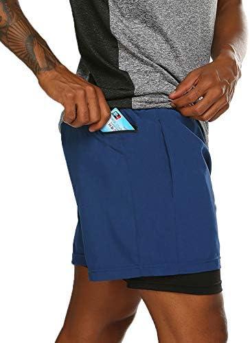 ultraligeros para Gimnasio Correr Coofandy con Bolsillo con Cremallera Ciclismo Pantalones Cortos para Correr para Hombre Entrenamiento Transpirables