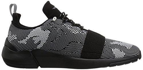Creativo Ricreazione Mens Ceroni Moda Sneaker Nero Camo